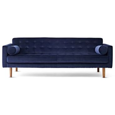 """JCP- Happy Chic by Jonathan Adler Crescent Heights Tufted 85"""" Sofa in Navy"""