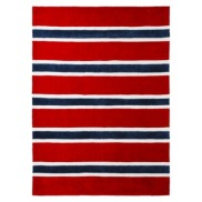 Rugby Stripe Area Rug in Blue/Red